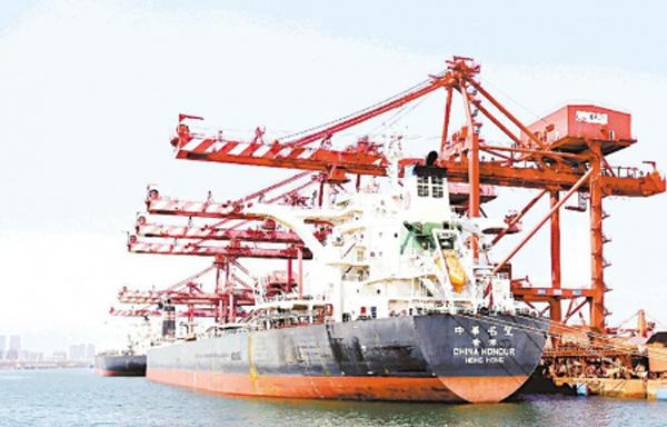 1—7月日照口岸外贸货物吞吐量约1.57 亿吨