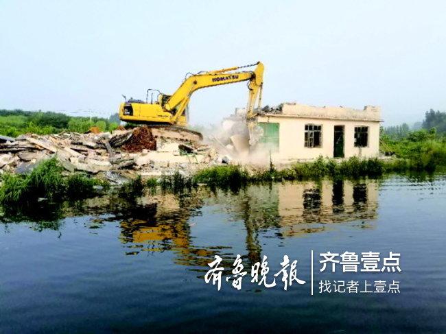 玉符河两岸私自建房,济南南山再拆水源地违建8000平