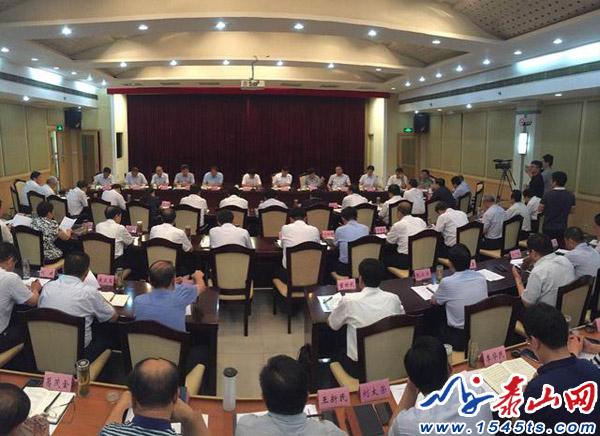 泰安市委书记崔洪刚:让实干成为泰安的主旋律