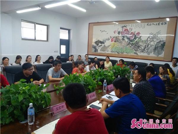 东营区文汇学校召开新入职教师见面会