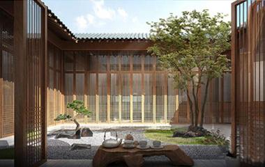 """外有池塘内有天井 """"在水一方""""打造新中式建筑"""