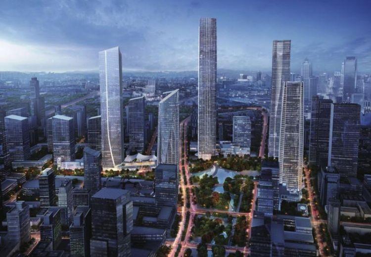 鏈接: 在濟南CBD的山、泉、湖、河、城五座超高層塔樓中,除了由中信泰富開發的城外,其他四座分別是: 由綠地集團開發的420米超高層(山):位于綢帶公園東側、新濼大街南側,地上約87層。主要功能為總部辦公、公寓式辦公和高端酒店(麗茲卡爾頓酒店)。山是屹立于中央商務區中心各高度建筑群中的最高建筑, 由平安集團開發的360米超高層(河):位于綢帶公園東側、禮耕路南側,地上約74層,主要用于總部辦公和高端酒店,匯集各類金融機構,構建綜合金融產業生態圈。 由華潤置地開發的230米超高層(泉