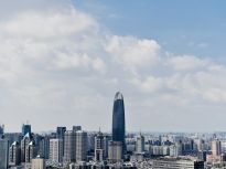 台风远去又见蓝天白云 济南迎来暴雨后晴好天气