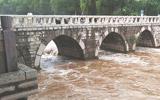 汛期橡胶坝塌坝运行 雨后孝妇河水位迅速回落