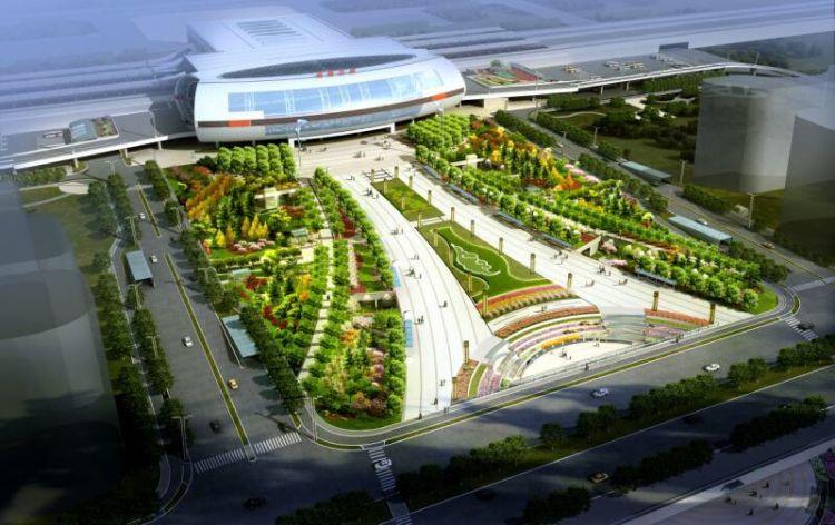 淄博北站交通枢纽工程完成总投资75% 确保济青高铁通车需要