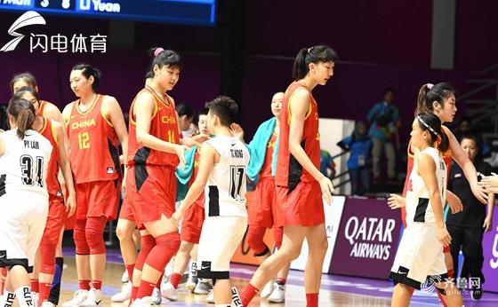 亚运会-女篮92分狂胜中国香港全胜晋级八强 韩旭26分