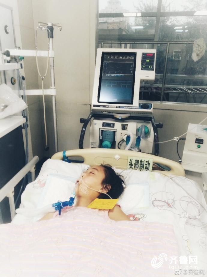 帮帮她!山东10岁小女孩昏迷30多天 急需救命大夫