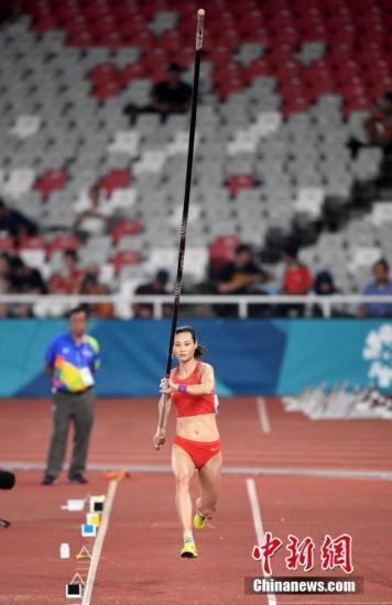 李玲打破赛会纪录成功卫冕 中国队实现女子撑杆跳六连冠