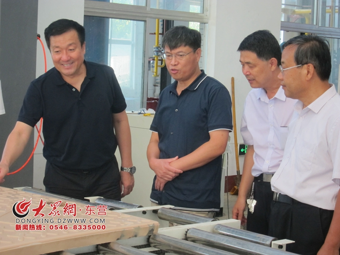 东营市政协副主席生钦勇到联系企业进行督导