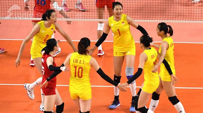 中国女排3-0完胜菲律宾进四强 半决赛将战日本队