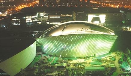 淄博大剧院亮灯 市文化中心二期即将建成