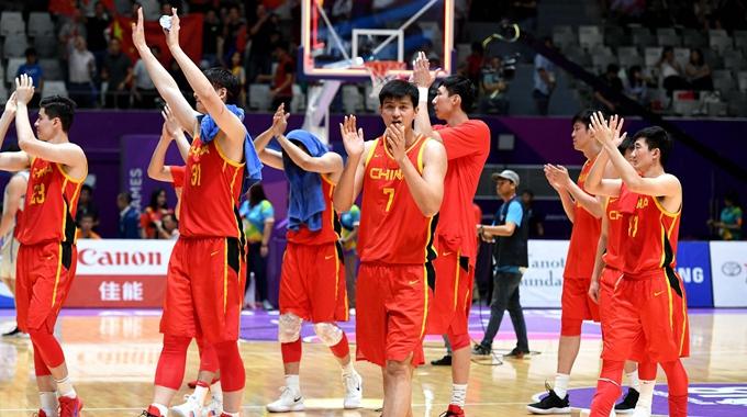 2018雅加达亚运会男篮半决赛:中国男篮红队86-63中国台北