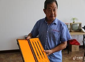烟台7旬农民制作毛笔55年 最贵一支卖出20万