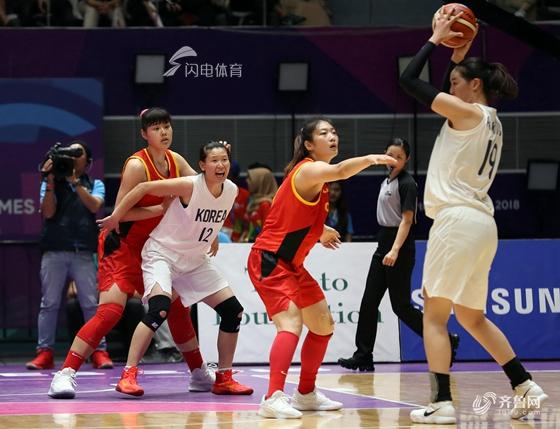 邵婷17分李月汝12分 中国女篮71-65朝韩联队摘得亚运金牌