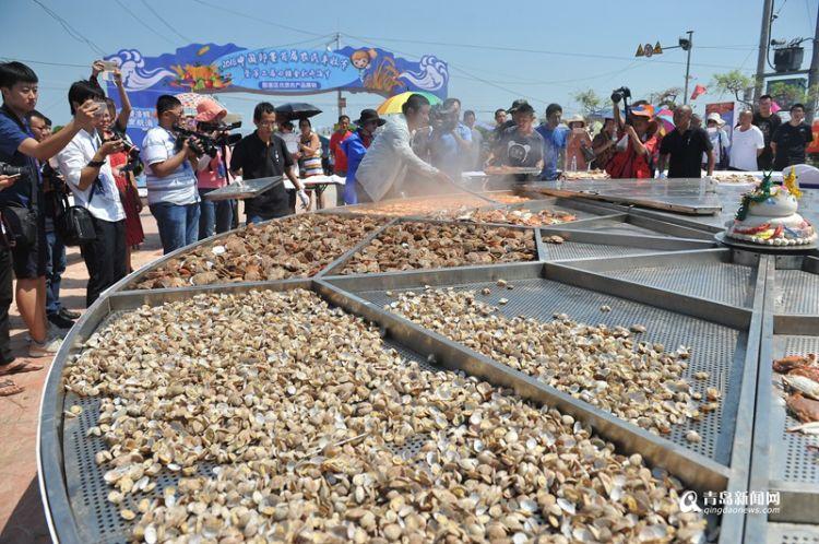 开海啦!田横岛鱼虾满舱 6.6米大锅现场蒸海鲜