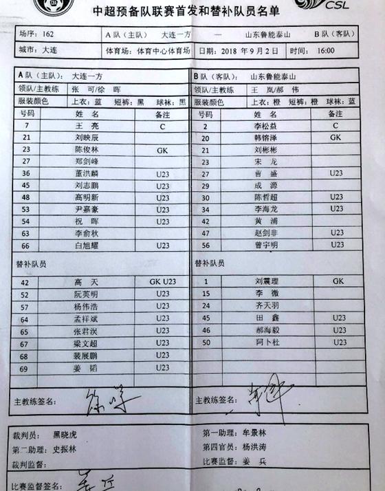 李海龙梅开二度!鲁能预备队5-1逆转胜一方
