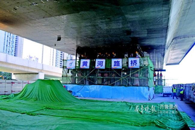 """济南北园高架西延新老桥下月""""合龙"""",明年元旦通车"""