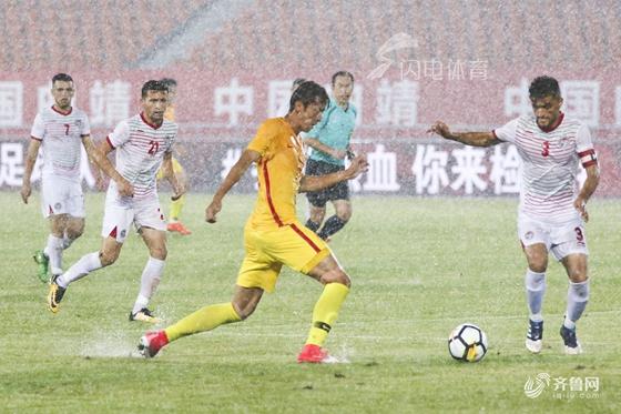 四国赛-U21国奥比赛遇大雨中止 77分钟与对手1-1平