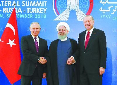 俄土伊三国总统商讨叙利亚未来:合力铲除恐怖主义