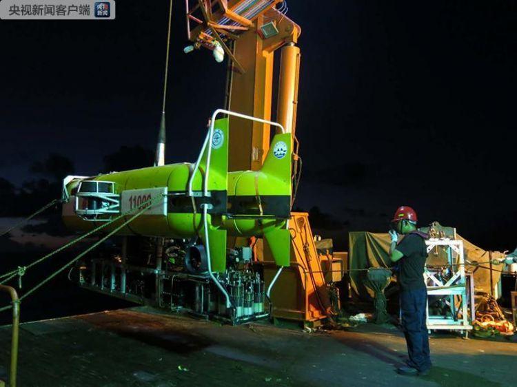 """5630米!""""海龙11000"""" 创造我国ROV深潜纪录"""