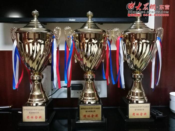 东营市老运会健身球操比赛获佳绩