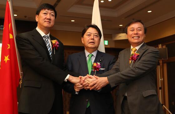 中日韩体育部长会议在东京召开 韩朝欲再组联队参加奥运