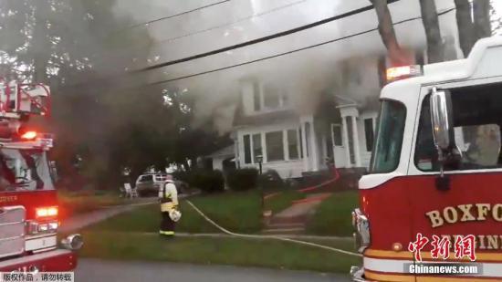 美国马萨诸塞州多地发生燃气爆炸 致至少4人受伤
