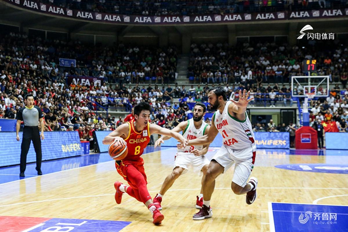 2019男篮世界杯预选赛:黎巴嫩92-88中国男篮