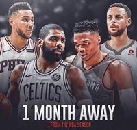 倒计时30天!离常规赛开始仅剩一个月