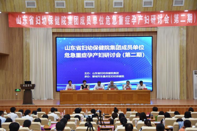 第二期山东省妇幼保健院集团成员单位危急重症孕产妇研讨会在聊召开