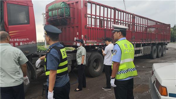 泰安启动重型柴油货物运输车辆集中整治行动