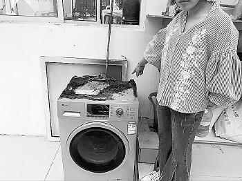 济南一家三口出去吃饭,,回家却发现洗衣机着火了……,西园寺公一
