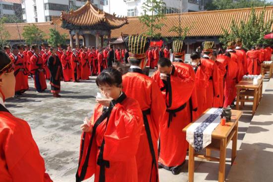 济南市第21届成人节启动仪式 暨十八岁成人礼活动在府学文庙举行