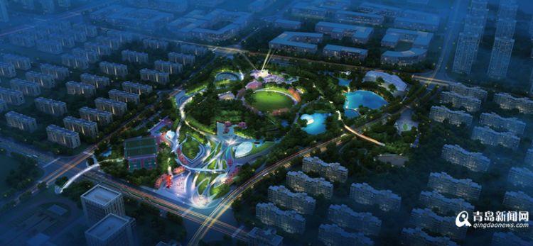 """即墨西新增一大型公园 占地超10万平方将成""""城市绿肺"""""""