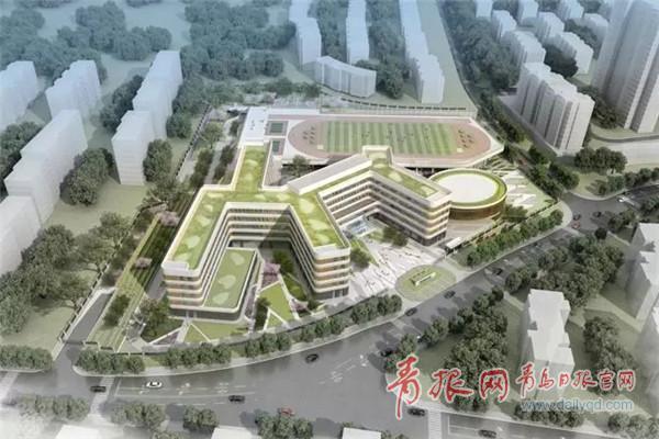 李沧君峰路中学项目开工 规划30班 明年9月竣工(图)