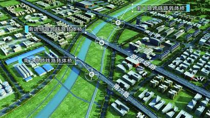 胶东机场新进展:万吨桥梁空中转体 首条进场主干路贯通
