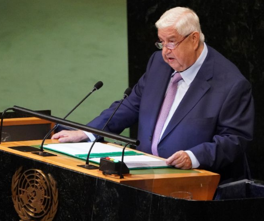 叙外长在联大痛斥美法土三国:立即从叙利亚离开!