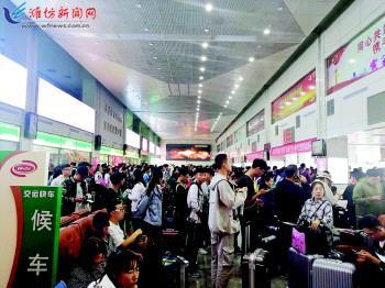 探亲旅游 潍坊三大车站都要挤爆了