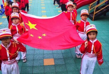 认地图,识民族,幼儿园孩子们庆国庆