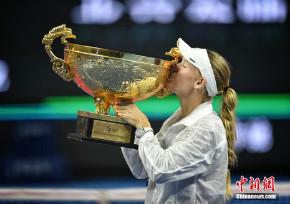 中网女单决赛 沃兹尼亚夺皇冠赛第三冠