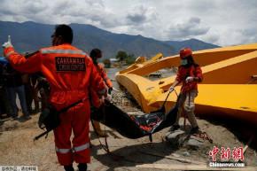 """印尼地震海啸致受损严重 大桥坍塌成""""麻花"""""""