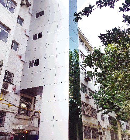 潍坊首个老楼装电梯基本完成 月底就能用