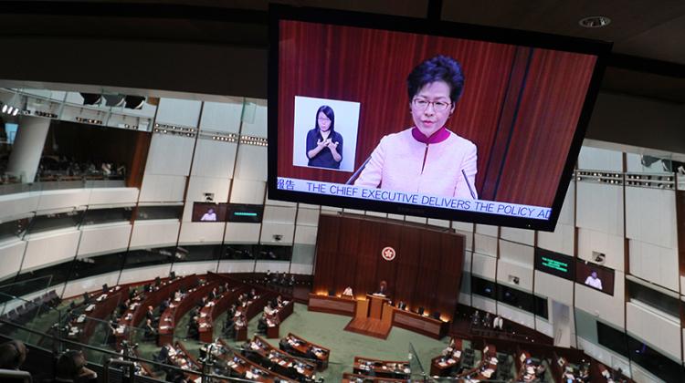 林郑月娥:香港特区对危害国家安全行为不会视若无睹
