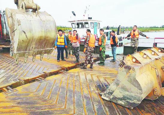 泄洪任务完成 淄博两座黄河浮桥对接通车