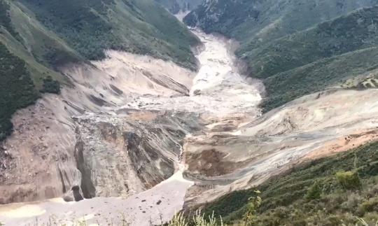 西藏昌都江达县今晨突发山体滑坡 暂无人员伤亡