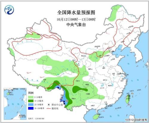 南方多地有中到大雨 内蒙古青海等局地有大雪