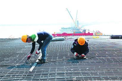 跨海大桥胶州连接线工程进展过六成2020年通车