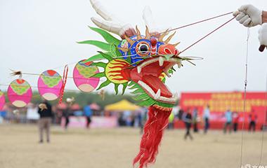 滕州举行山东省第八届全民健身运动会风筝比赛