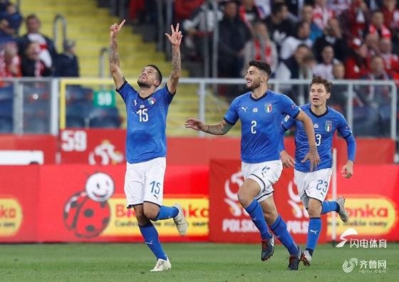 欧国联-补时绝杀!意大利两中横梁客胜送波兰降级