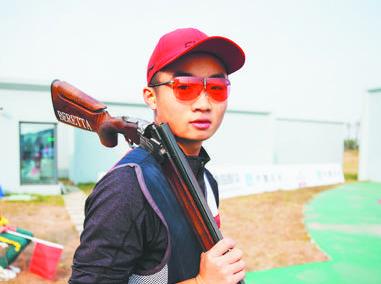 淄博小将包揽省运会射击男甲多向飞碟前三名